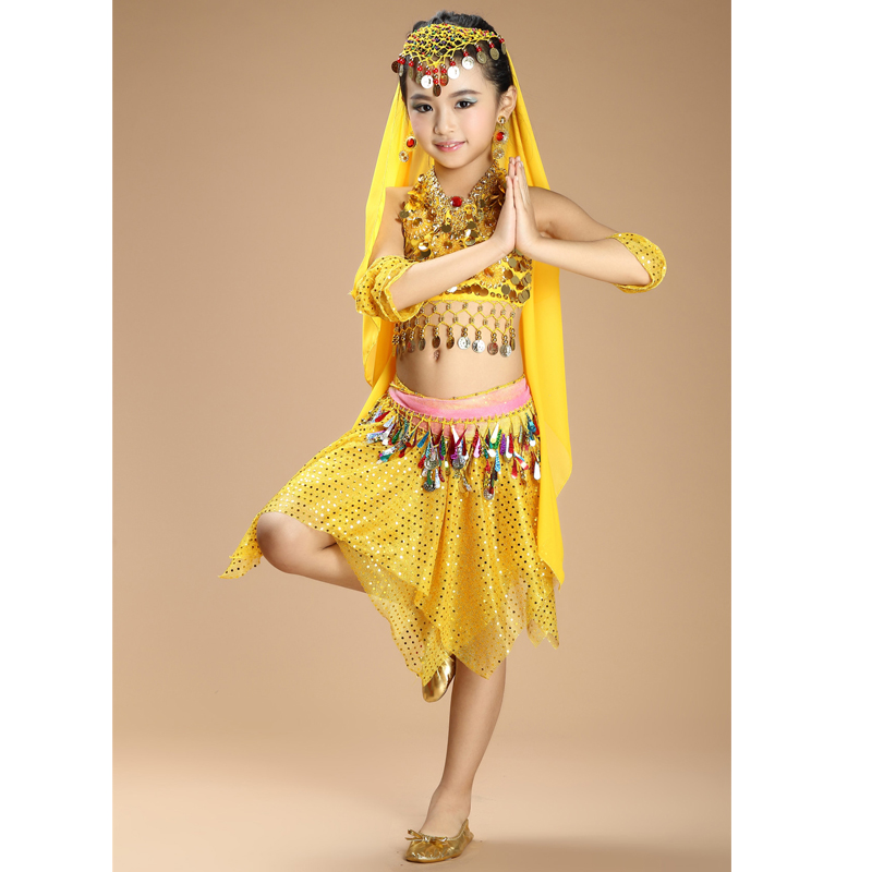0483716a9d New Handmade Children Belly Dance Costumes Kids Belly Dancing Girls Bollywood  Indian Performance Cloth Whole Set 6 Colors