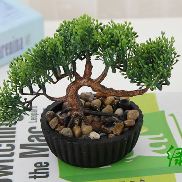 1pc indoor plants decoration simulation small bonsai for Plant decorations home