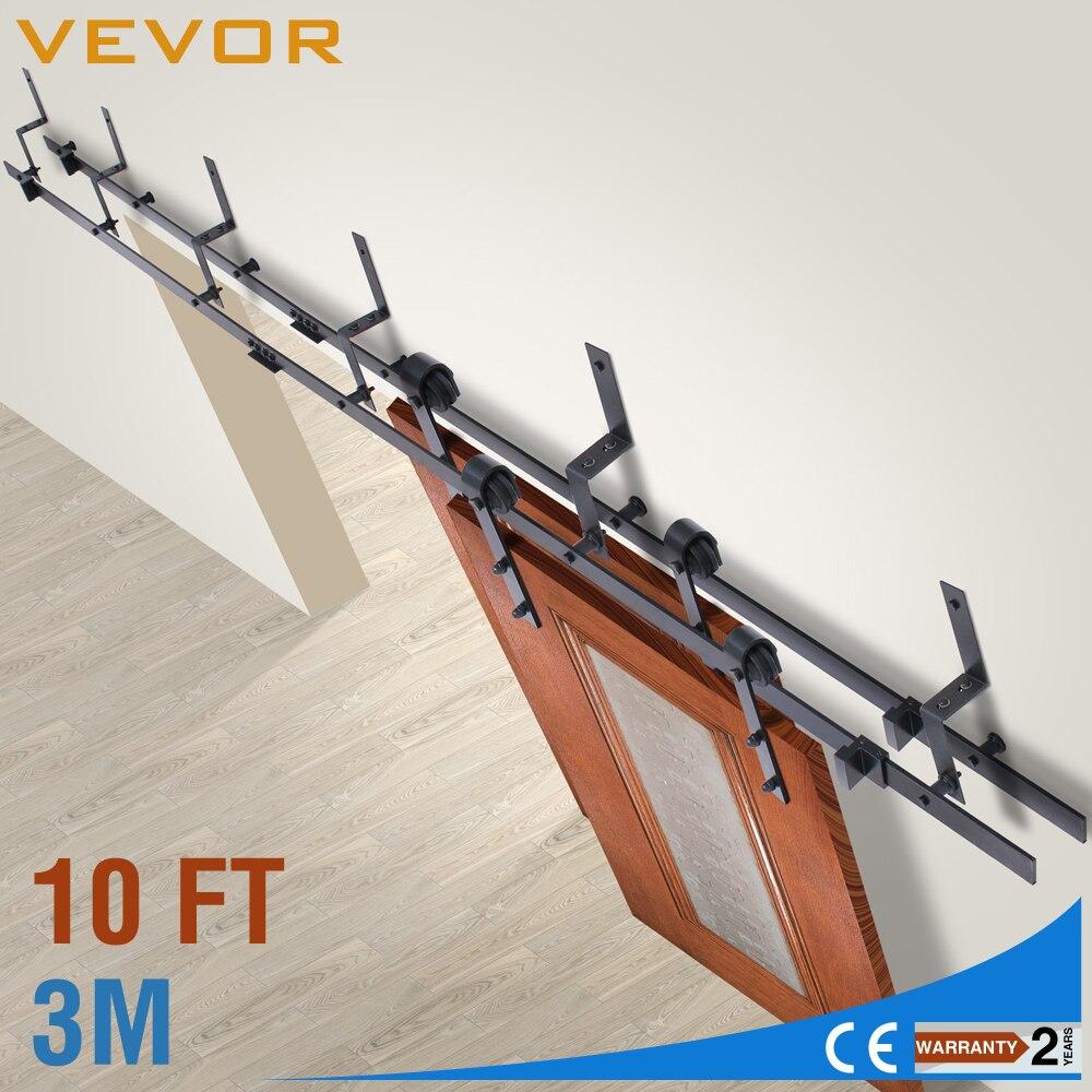 Ensemble de placard de quincaillerie de porte en bois de grange coulissante 10FT