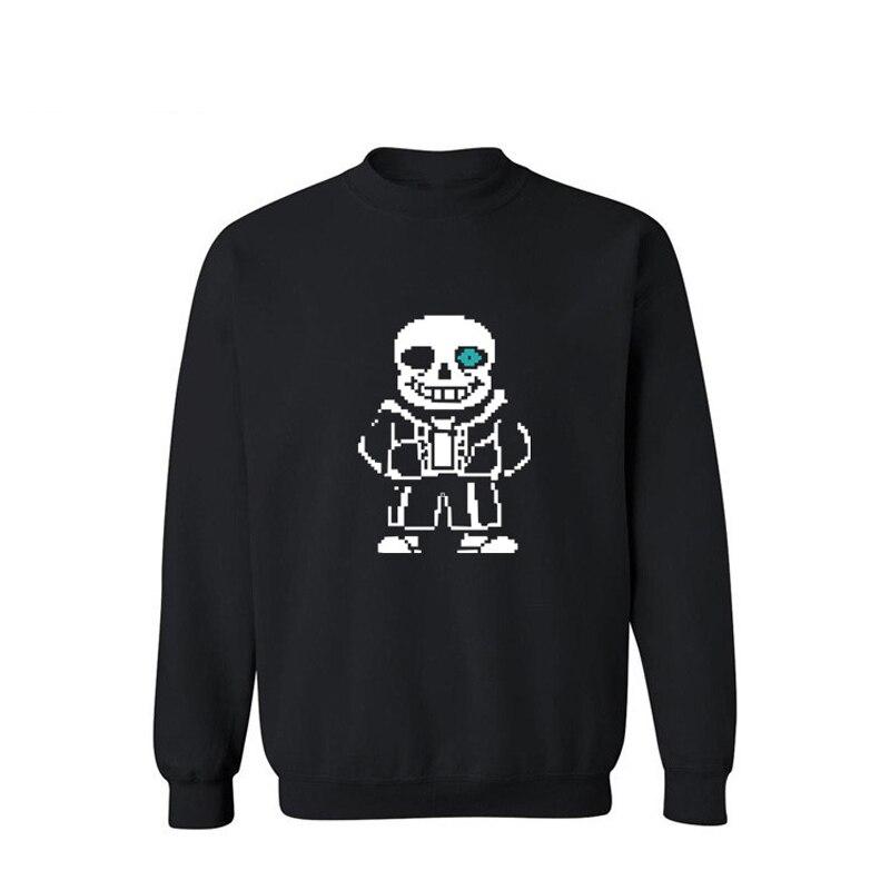 Мультфильм скелет узор Для мужчин S Толстовки и кофты 2016 черный/серый уличная Толстовка Для мужчин Роскошные XXL 3XL