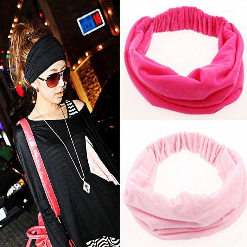 1 stücke Breite Baumwolle Stretch Elastic Beauty Hair Wash Stirnband Haarschmuck Turban Headwear Verband Kopf Haarband