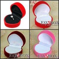 5, 0 х 4, 5 х 3, 0 см, 48 шт./лот романтический свадьба форма сердца бархат кольцо коробка ювелирные изделия дисплей подарочная коробка