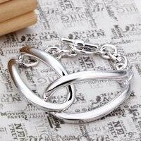 Грудь 925 серебро браслет ювелирные изделия браслет часы класс