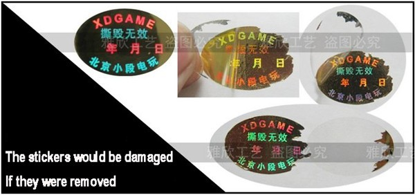 Etiquetas impressas personalizadas do holograma da pomba,