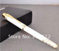 бесплатная доставка - оптовая продажа - горячая распродажа фонтан ручка, крокодил серебристый прекрасно перьевая ручка