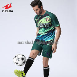 Free shipping,MOQ 5pcs,2016 Newest hot sale design,fully sublimation custom soccer jersey for men,dark green
