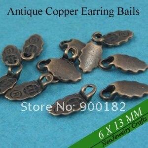 Античная бронзовая серьги bails, Клей на серьги Bails для стекла изготовление