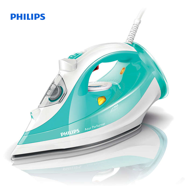 Philips Azur Performer Steam iron Steam 40g/min;160g steam boost SteamGlide Plus soleplate Anti-calc 2400 Watts GC3811/70