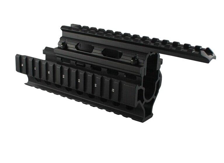 Chasse AK 47/74 tactique Quad Rails Handguard Rail tir tactique ris Quad Rail Rail mount avec livraison 12 pcs couverture