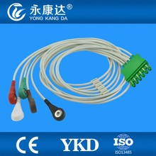 for Draeger MS16231/MS16547 ECG cable with leadwires,6lead,snap,AHA Ending