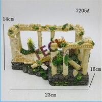 7205A Aquarium Rome Column Decorating Resin Fish Tank Cave Decoration Artificial Aquarium Background Fake Aquarium Decorating