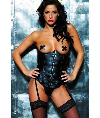Corset leather lingerie