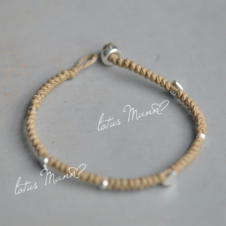 Lotus mann тюрбан однослойной намотки Узелок Ограниченная серия Серебряный браслет в форме сердца