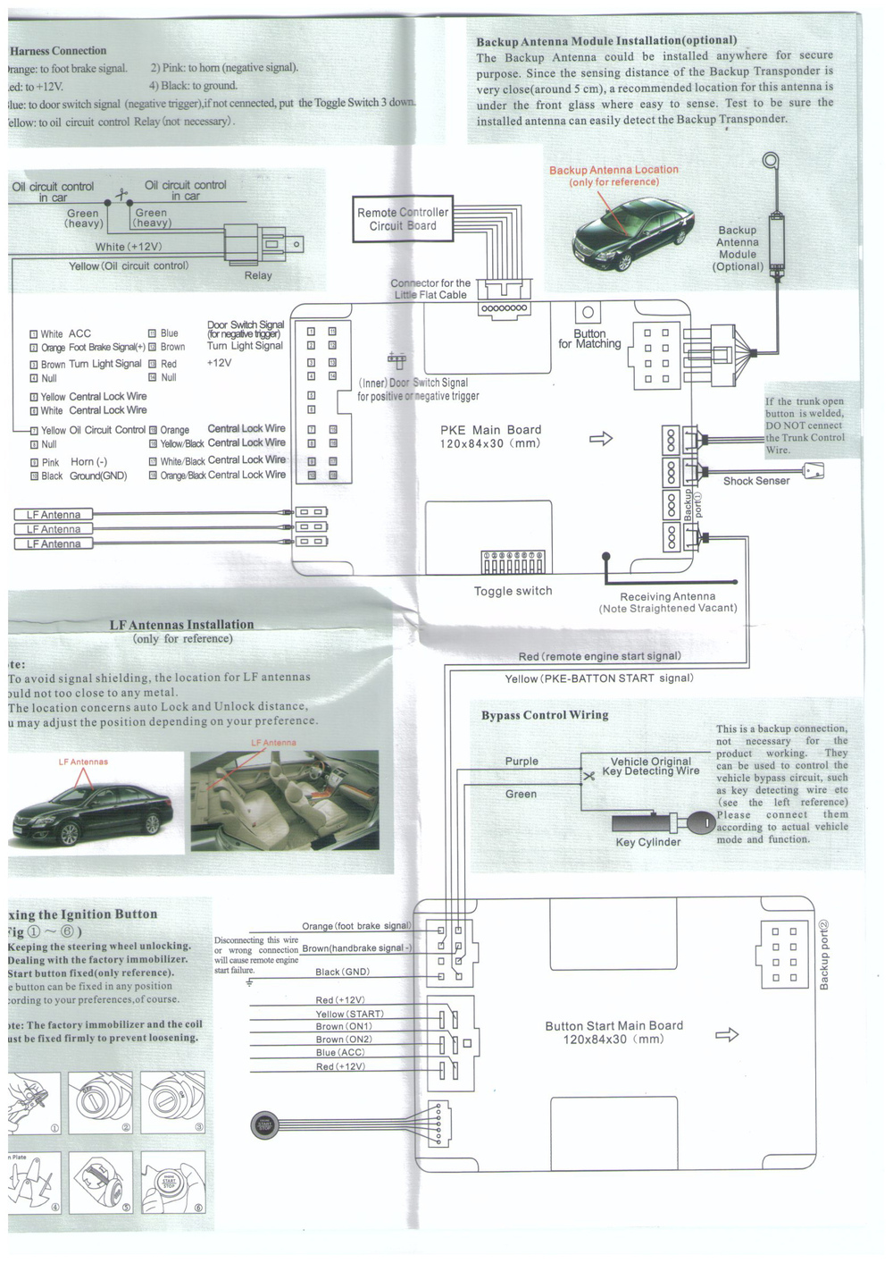 Free Shipping Pg N003a Complete Auto Car Passive Keyless Entry Pke Central Locking Module Wiring Diagram N003 1