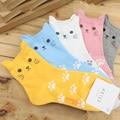 2016 New Cartoon Socks Little Ear Cat Cotton Sock With Footprint Cute Short Socks Casual Tube Socks For Women Girls 26.5cm 1Pair