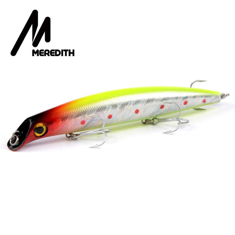 Meredith Lures Fishing 1pcs 15.5g 120mm Floating Minnow Fishing Bait Quality Professional Lures Wobblers Hooks Carp Fishing y0018 wholesale ray frog sets playing blackfish bait lures bait floating frog bait fishing page 5