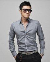 новый мужские рубашки, досуг рубашки, свободного покроя тонкий стильный горячая рубашки цвет : белый, розовый, синий, размер : мл-хl-ххl