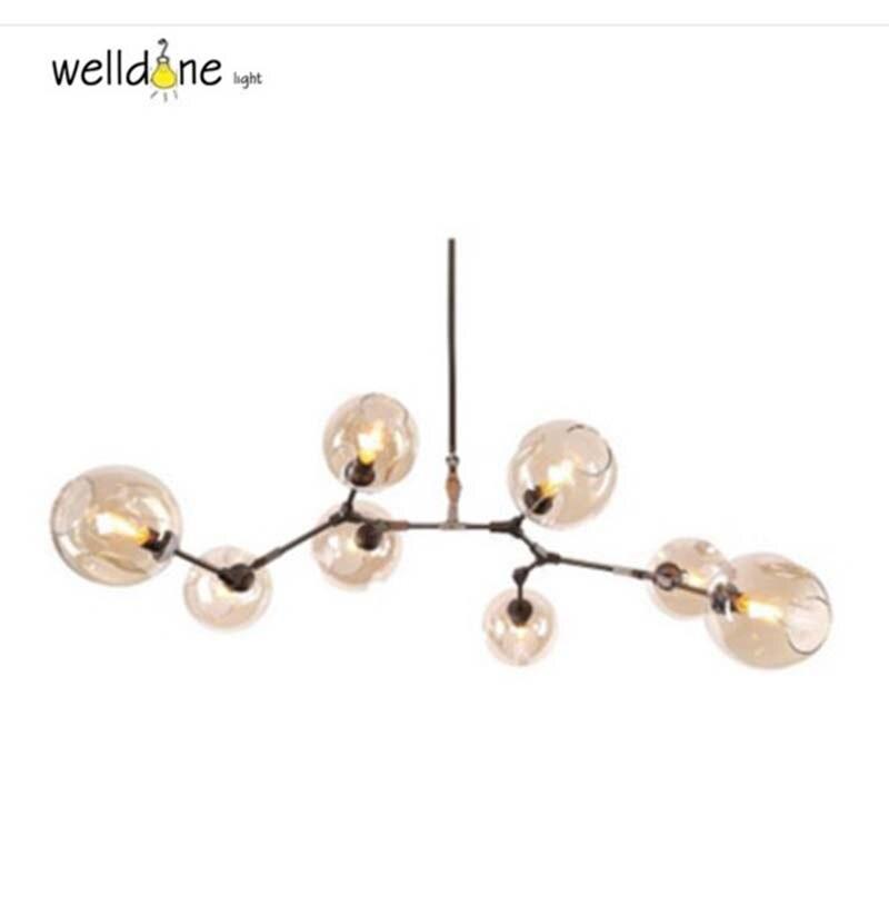 Винтаж Лофт Промышленные руки черные стеклянные шары и специальная металлическая разветвительная молекулярная нерегулярные повесить сте