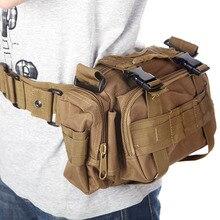 Men's Outdoor Camping Military Tactical Sport Bag Multi-purpose Waist Pack Shoulder Bags Handbag Travel waterproof Bags Bolsas цена 2017