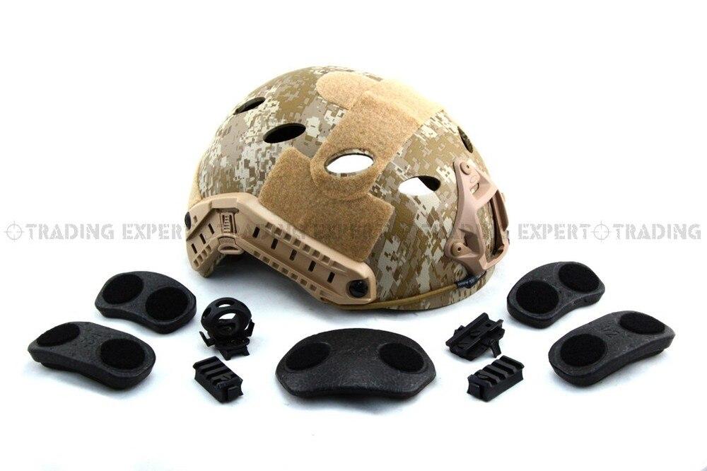 Для прыжков с парашютом Быстрый шлем ABS оболочка(MARPAT Пустыня
