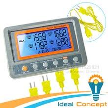 4 Канал-328 ~ 2498 градусов C/F К-Типа Термопары 2 ГБ SD Карты Температуры Настенный термометр Регистратор