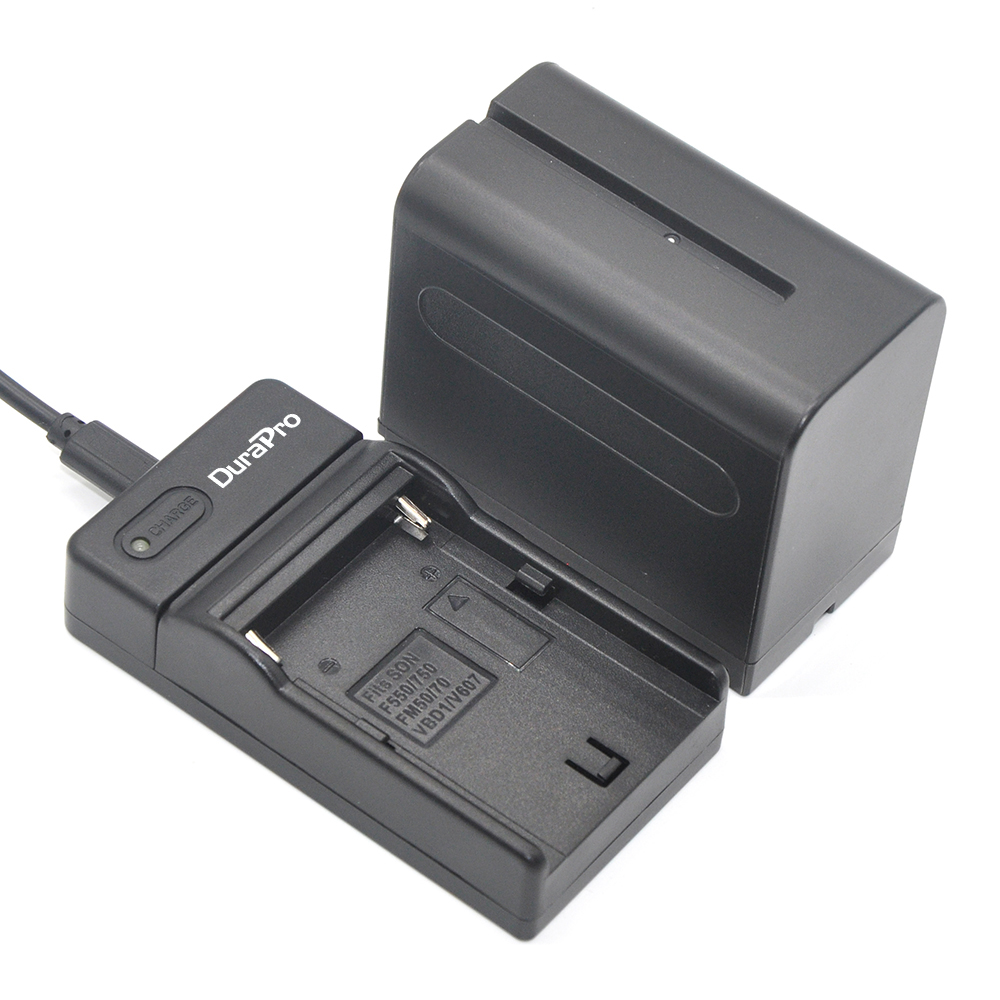 1pc 7200mAh NP-F960 NP-F970 NP F960 NP F970 NPF960 NPF970 camera Battery + USB Charger for Sony NP-F550 NP F770 F750 F960 F970