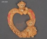 Khuôn sô cô la 235-020 tình yêu Gấu hình trái Tim Photo Frame Shape nghệ thuật đường khuôn silicone fondant Cake Mold Clay Khuôn