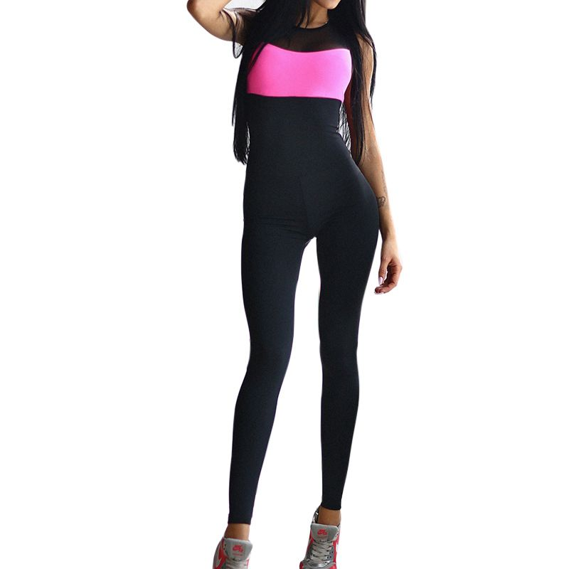 LASPERAL Sport Suit Women Hollow Back Bandage Jumpsuit For Running Jogging Sleeveless One piece Women Fitness