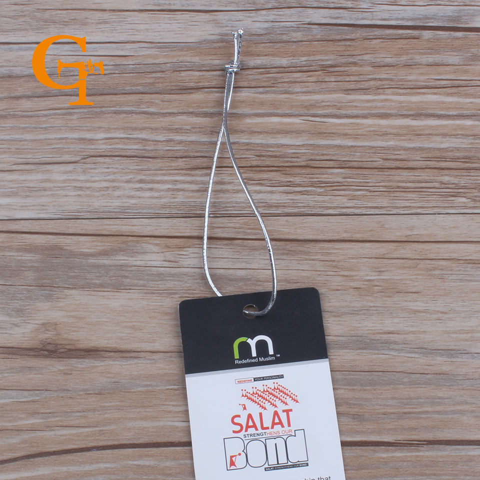 silver elastic hang tag string,garment hang tag sling, elastic rope for hair extention ,240 yards/lot