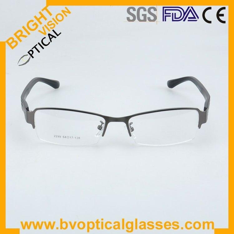 2299greyfront Factrory price half rim vintage optical frames eyewear glasses