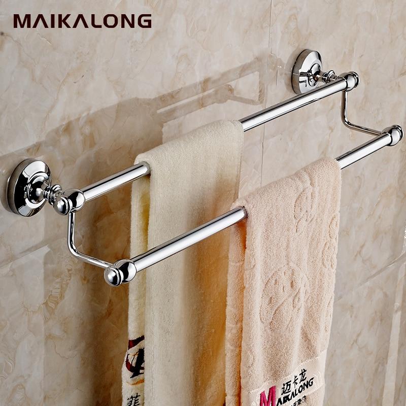 Bathroom accessories solid brass chrome finished double - Chrome and brass bathroom accessories ...