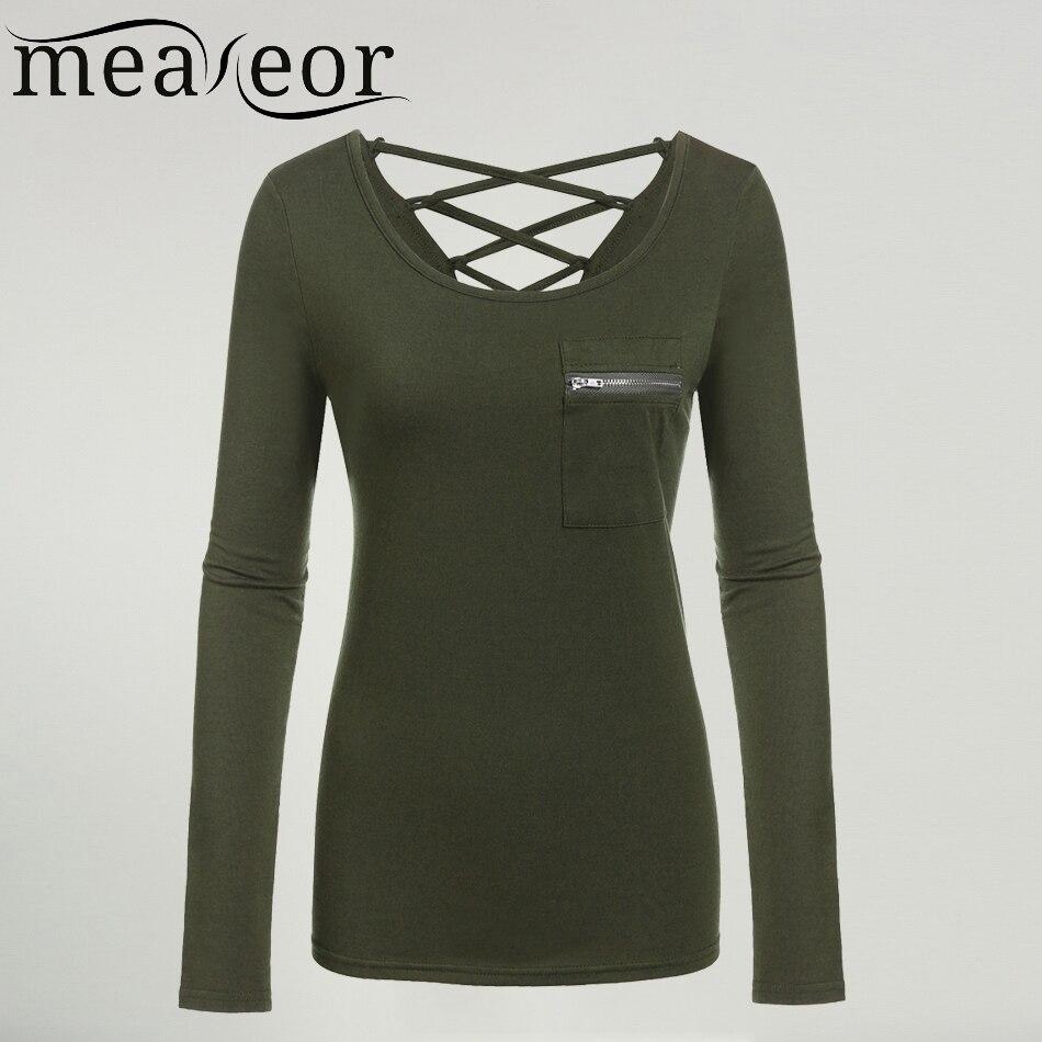 com buy meaneor t shirt women black long sleeve solid slim fit. Black Bedroom Furniture Sets. Home Design Ideas