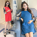 3 Size Autumn maternity dresses long sleeve pregnancy dresses lactation  nursing dresses 5 colors pregnancy clothes