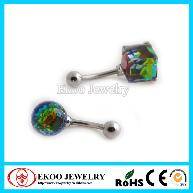 316lsurgical Steel Ball And Cube Iridescent Crystal Magic Belly Rings Mothers Day On Aliexpress Com Alibaba Group
