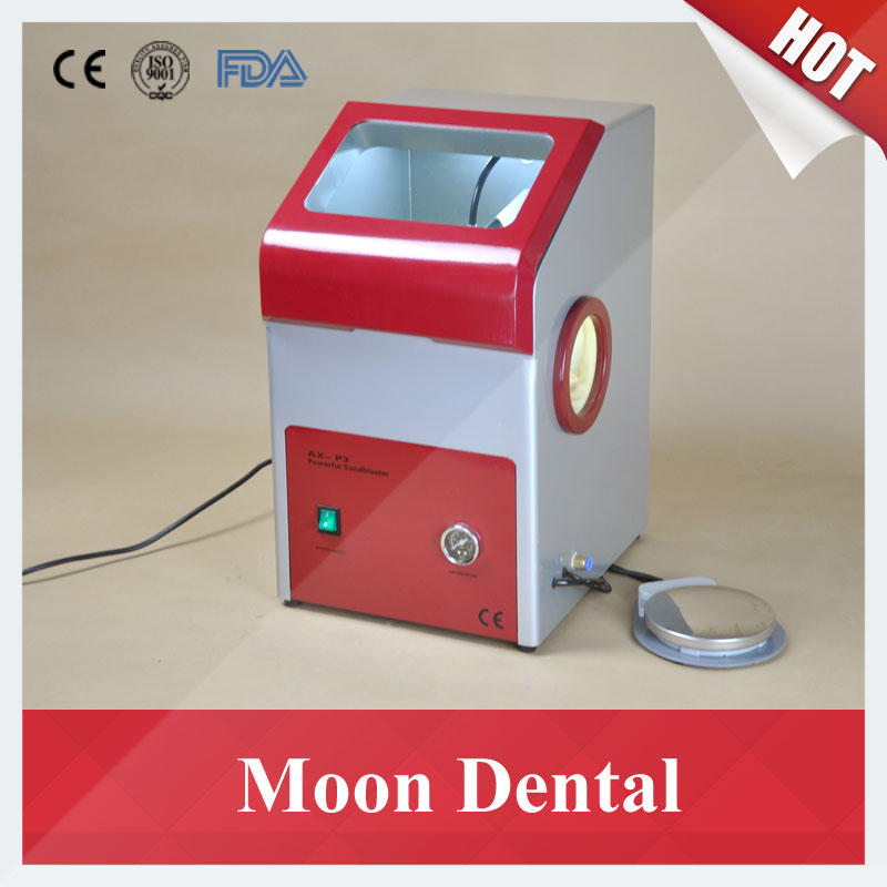 dental equipment 14 sets of equipment dental tools sets of scaling cure cure mixing correction check all around package CE Approved Dental Lab Equipment AX-P3 Recyclable Sandblaster Dental Sand Blasting Unit for Gentle Polishing of Metal Frameworks