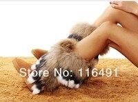 бесплатная доставка снег лисицы коровьей женская обувь кролика коровы мышцы подошва кисточкой многоцветный