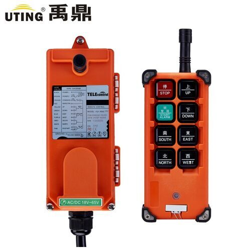 Prix pour Téléconduite uting F21-E1B 8 boutons 1 vitesse indsutrial radio télécommande pour pont roulant/palan