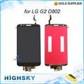 Экран для LG G2 D802 жк-дисплей + сенсорный дигитайзер с рамкой полной + инструменты 1 шт. бесплатная доставка