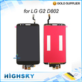 Screen for LG G2 D802 lcd display + touch digitizer with frame complete + tools 1 piece free shipping