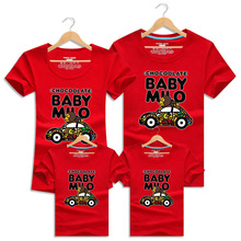 Family T Shirts Summer Cartoon Car Family Matching Outfits Clothes Mother Daughter And Father Son Short