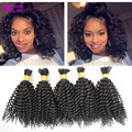 8A Unprocessed Virgin Human Hair for Braiding Bulk Brazilian Virgin Kinky Curly Human Braiding Hair Bulk