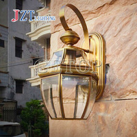 T Led Outdoor Wall Lamp Vintage Europe Type Style Copper Manufacturing LED Lamp For Bathroom Corridor