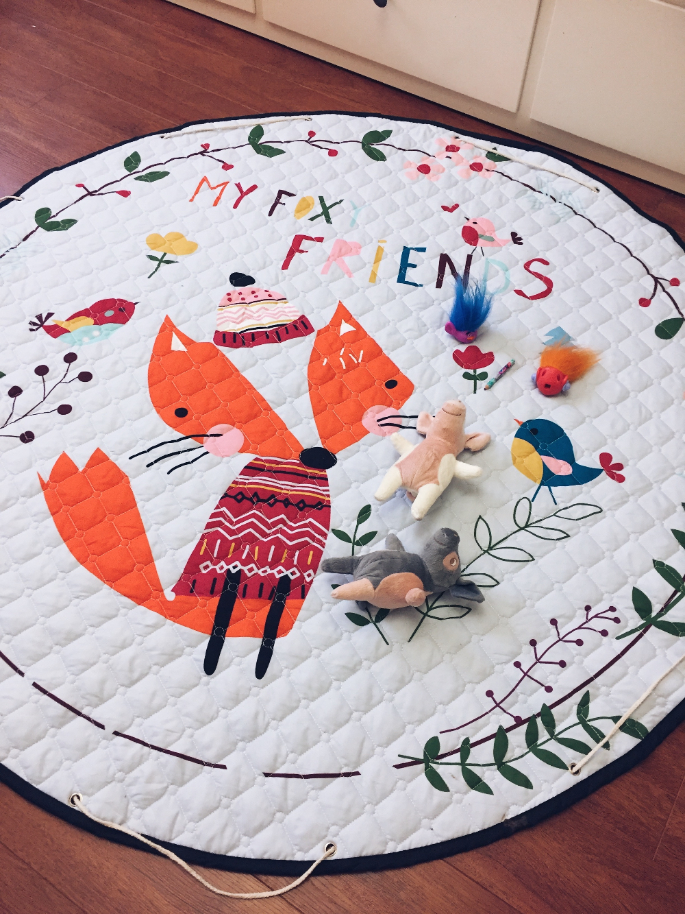 Детский коврик-мешок для игрушек с Алиэкспресс