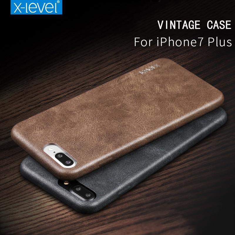 X-Level für iPhone 7 Hülle Zubehör Luxusmarke Retro Leder TPU - Handy-Zubehör und Ersatzteile - Foto 2