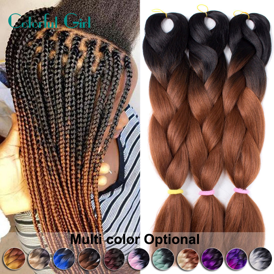 Ombre Kanekalon Braiding Hair Xpression Kanekalon Jumbo