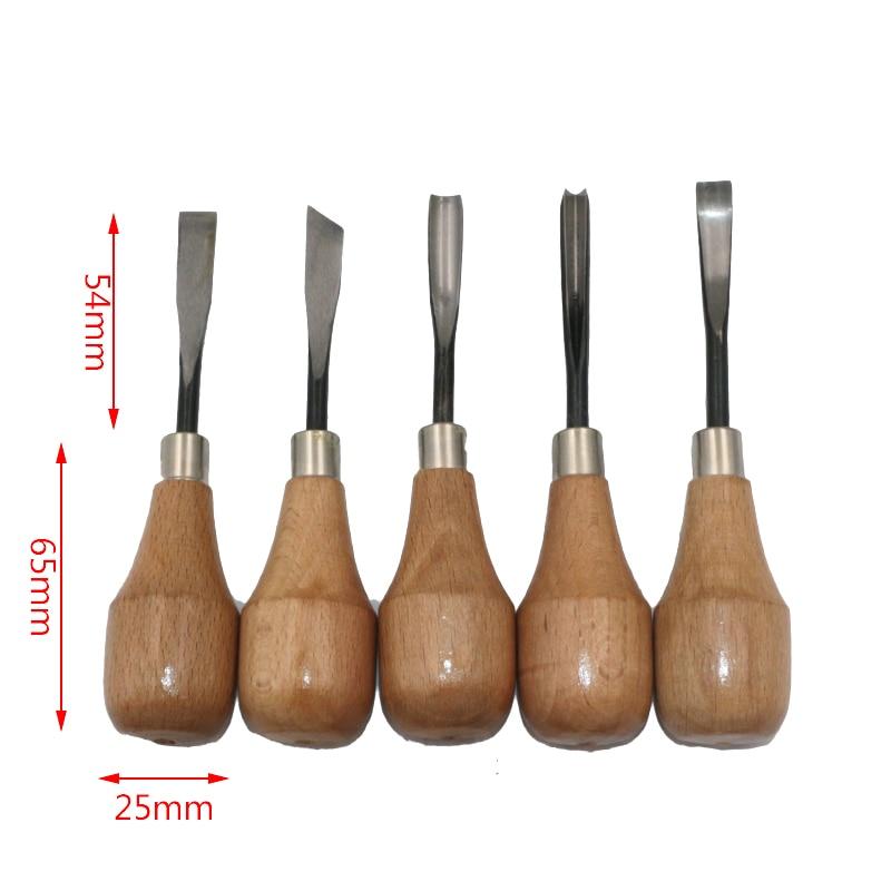 QSTEXPRESS 5бр / лот нож за дърворезба / ъгъл - Ръчни инструменти - Снимка 5