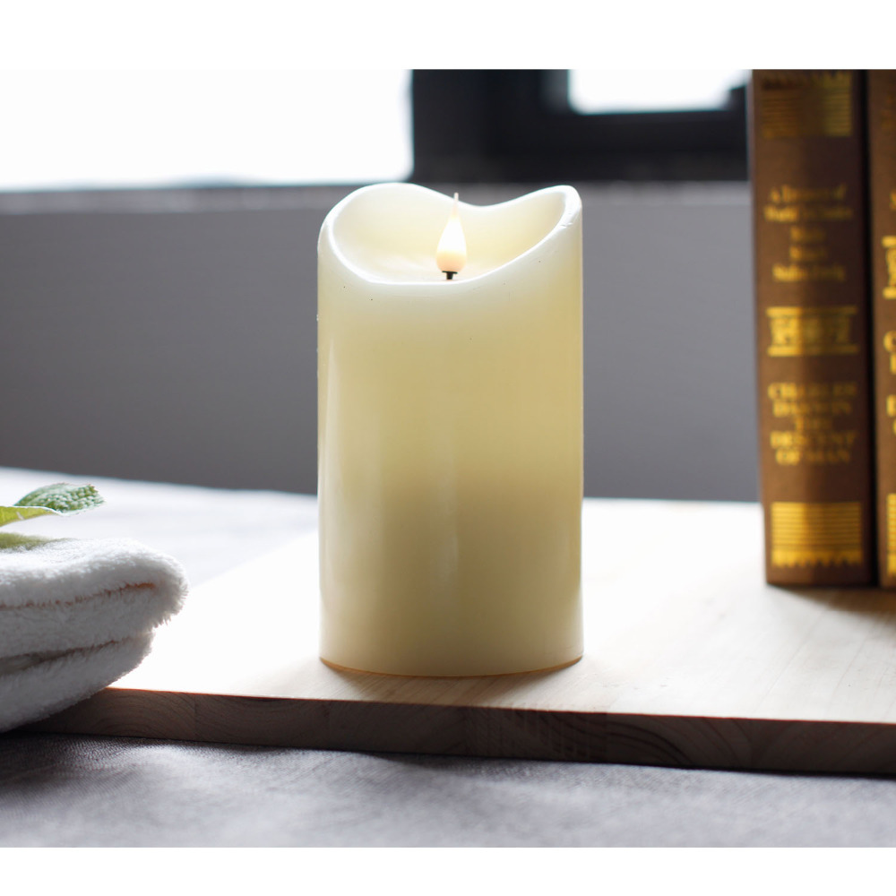 Led Candle Flameless Candle Moving Wick 3d Fireless Flame