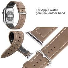 Горячая носо марка роскошный кожаный ремешок ремешок из нержавеющей стали пряжка адаптер пояса для Apple , часы 38 мм 42 мм