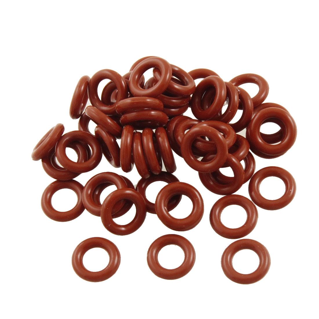 Uxcell 10 pièces 2.5Mm Épaisseur Rouge Silicone Joint Torique Joints D'huile. | 14mm | 15mm | 17mm | 19mm | 22mm | 25mm | 34mm | 35mm | 37mm