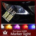 Guang Dian 2 pcs Carro levou luz lâmpadas Marcador Clearance Luz com lâmpada LED brilhante Para ls460 2007-2012 T10 w5w 2835 194